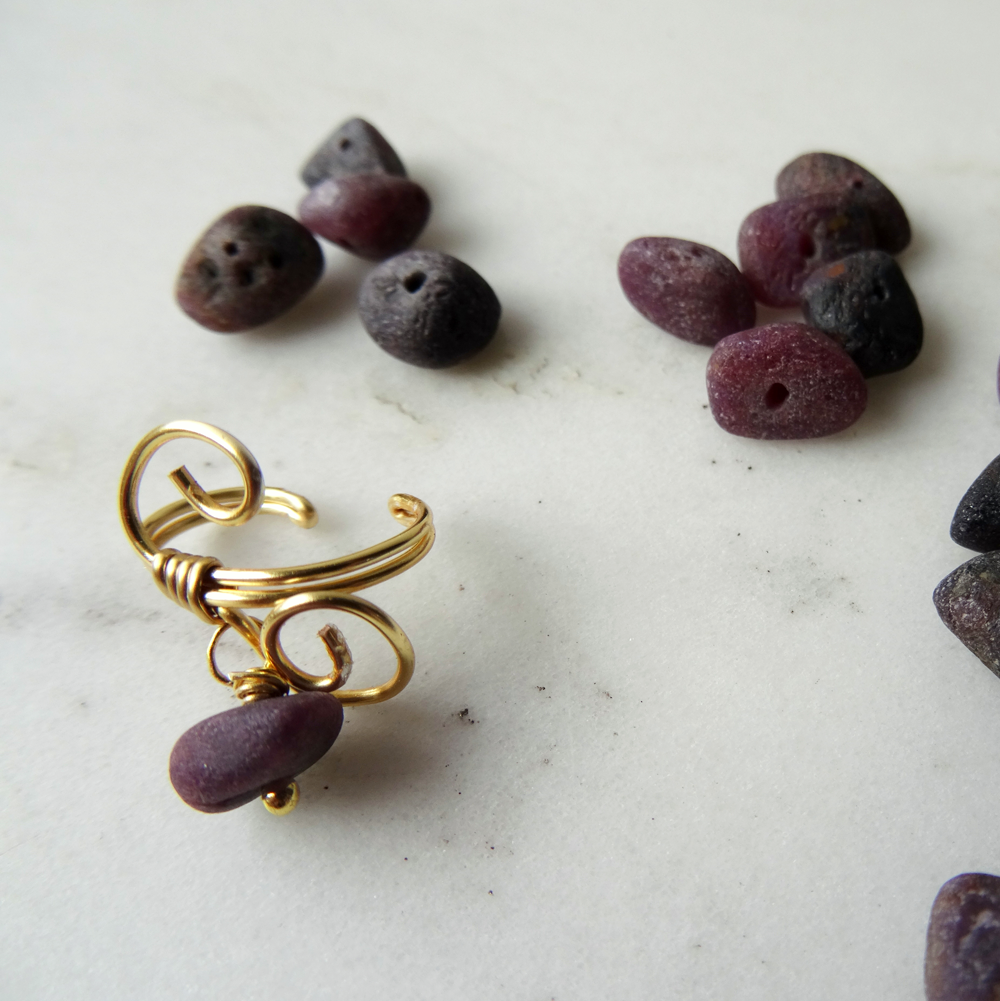Raw-natural-ruby-ear-cuff-by-CalicoRoseStudio-4e